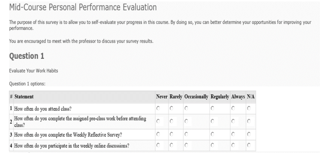 Midterm Personal Performance Evaluation - Part 1